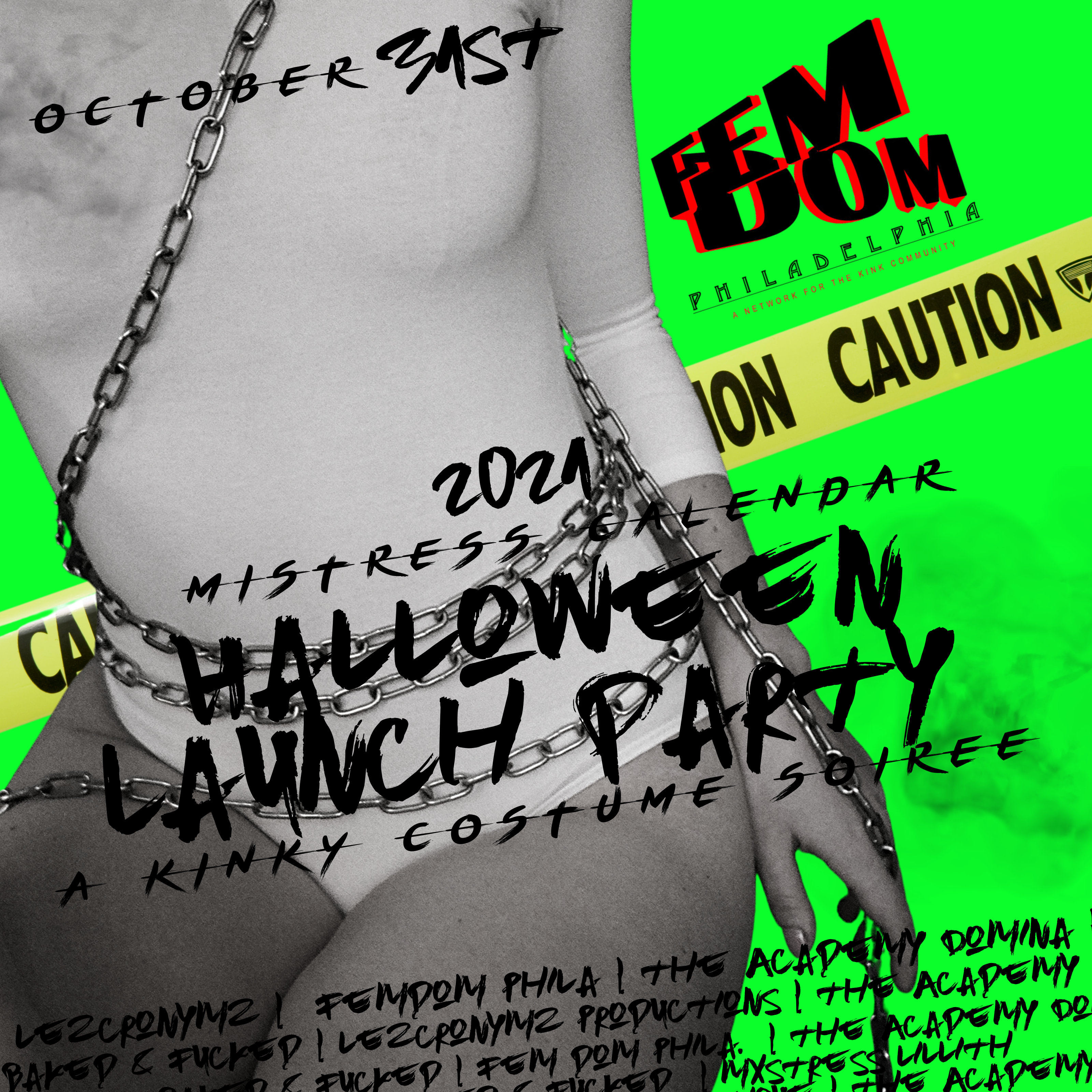 The 2021 Mistress Calendar Launch Party this Halloween!